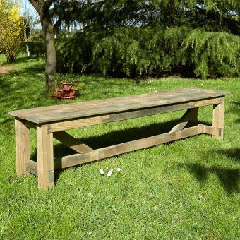Banc de jardin 3 places en bois traité autoclave, Normand