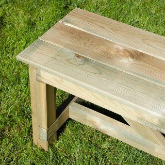 Banc de jardin 3 places en bois traité autoclave, Normand - Mobilier ...