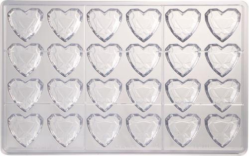 Plaque 24 coeurs diamants ma1993