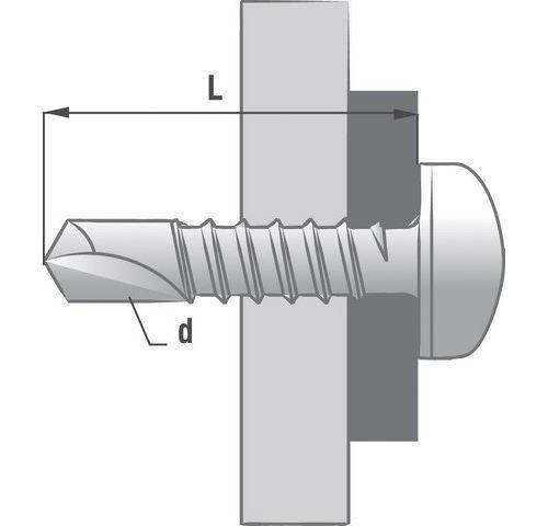 Boîte 250 Vis acier autoperceuse TCQ SCELL-IT - 4.8 x 50 mm - SQ2 - TCQ48050