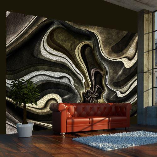 300x231 Papier peint Moderne Abstractions Esthetique Green and brown textured fractal