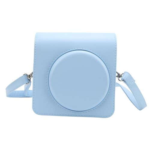 Étui de protection en cuir PU pour Instax SQUARE SQ1 - Bleu