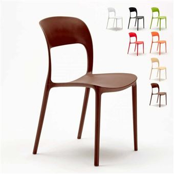 20 Sur Chaise Salle A Manger Bar Restaurant En Polypropylene Colore