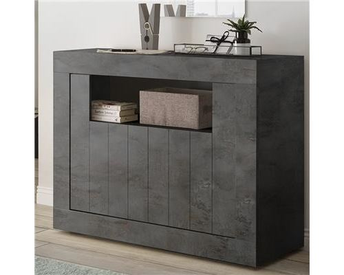 Buffet 110 cm moderne gris anthracite MABEL