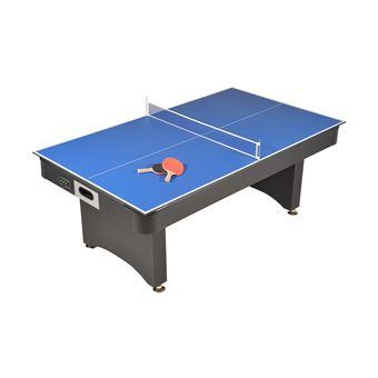 Table De Jeux 3 En 1 Air Hockey Ping Pong Et Convertible Table Dînatoire Accessoires Inclus 213 X 122 X 82 Cm