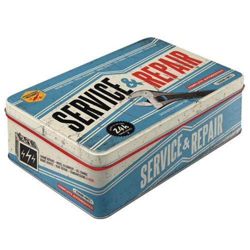 Grande boite Rétro bleue