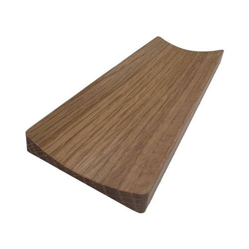 Poignée de porte rectangulaire concave 50X150 mm façon hêtre