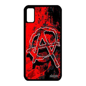 Coque pour Apple iPhone X silicone anarchie hardrock gel graphique motif tag de