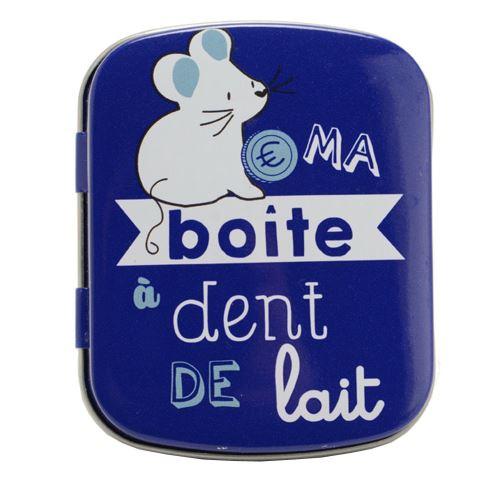 Petite boite à dents de lait en métal