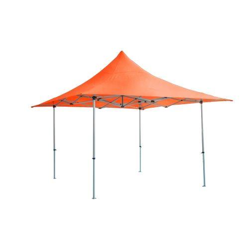 Barnum pliant TINGTOP 4x4m polyester 300g/m² Pelliculé PVC tube aluminium 40mm Coloris Orange