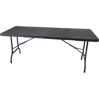 Table Pliante Aspect Cm Brasserie Mobilier Bois NoirDe 180 qSARc543jL