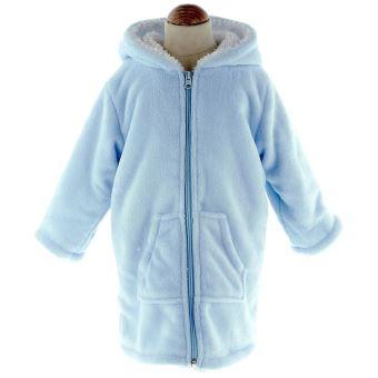 Peignoir Robe De Chambre Enfant Polaire Zipper Ciel 02 Ans