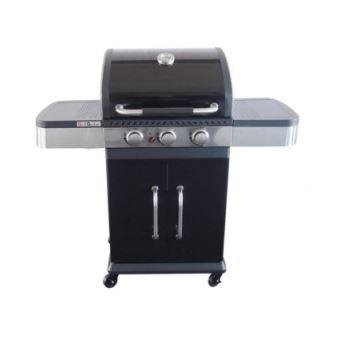 GRILL GARDEN Barbecue a gaz 3 brûleurs Fonte émaillée 51