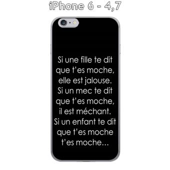 coque iphone 6 texte fille