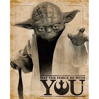 Star Wars Mini Poster - Yoda, Que La Force Soit Avec Toi (50x40 cm), Poster/affiche enroulé, Top Prix | fnac