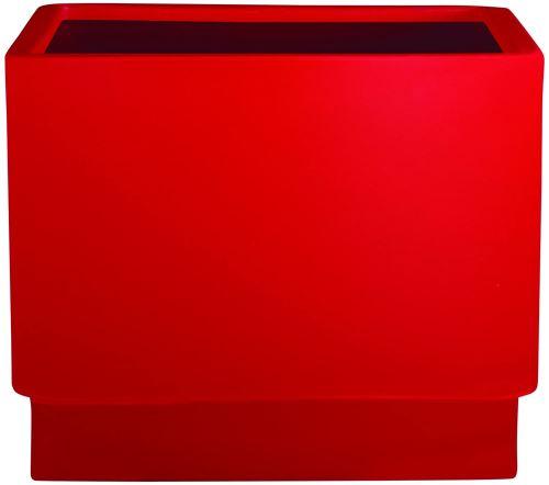Hobby Flower Basic - Hydrojardinière avec système d'auto-arrosage, 50 x 50 x 40 cm, Rouge