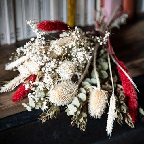 Bouquet moyen de fleurs séchées
