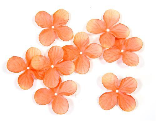 Lot de 240 pétales de fleurs en tissu Orange - 3 cm
