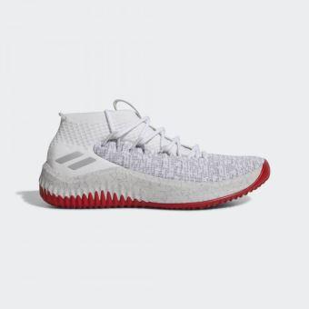 Chaussures de Basketball adidas Dame 4 Blanc et rouge pour homme Pointure 48 23
