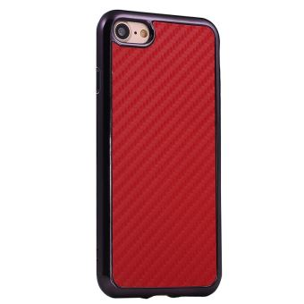 coque iphone 7 carbone rouge
