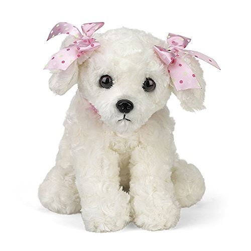 Bearington Sassy Plush Peluche Chien Blanc 13