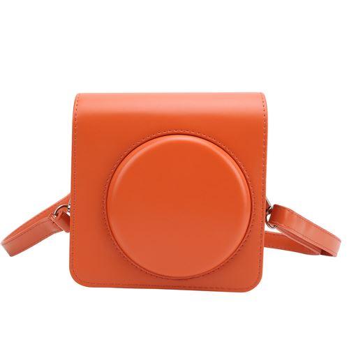 Étui de protection en cuir PU pour Instax SQUARE SQ1 - Orange