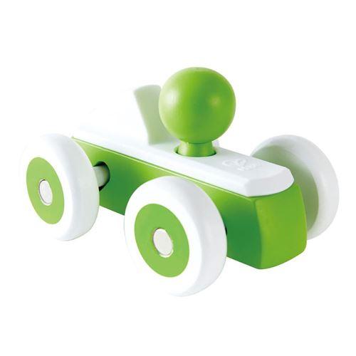 Hape voiture de course en bois 15 cm vert