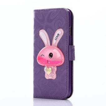 coque iphone 5s etui portefeuille lapin mauve 974x achat prix fnac. Black Bedroom Furniture Sets. Home Design Ideas