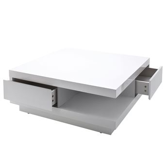 finblanc30x85x85cm salon Abbydesserte tiroirspoli avec MCA de table basse knO80wP