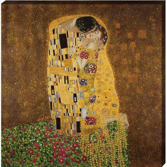 Gustav Klimt Peinture A L Huile Der Kuss 90x90 Cm Autre Poster Top Prix Fnac
