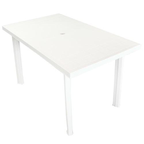 Table de jardin Blanc 126 x 76 x 72 cm Plastique