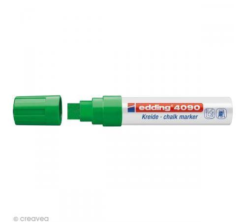 edding - window marker 4090, pointe biseautée, vert