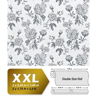 Papier Peint Fleurs Xxl Intisse Edem 687 96 Motif Floral Roses Et