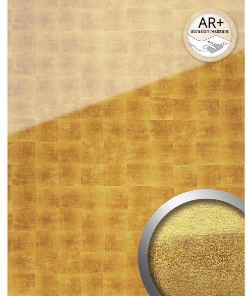 Panneau mural autoadhésif aspect verre WallFace 17840 LUXURY Cubes Revêtement mural verre acrylique résistant à l'abrasion doré beige 2,60 m2