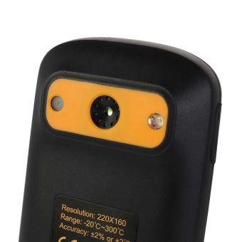 Prise en Charge Multilingue KKmoon/® 120 * 90 R/ésolution de Rayonnement Infrarouge /Écran LCD 2,4 pouces dindicateur IR dimageur Thermique Portable Camera Thermique Infrarouge avec Batterie Lithium