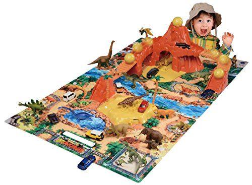 Ania tente d'explorer le parc d'aventure des dinosaures de Tomica