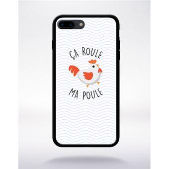 Coque A Roule Ma Poule Compatible Apple Iphone 7 Plus Bord Noir Silicone