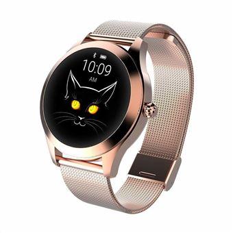 Montre Connectée Femmes Smartwatch Montre Intelligente pour Femme avec Affichage de l'heure, Mode Multisports Bluetooth-Or