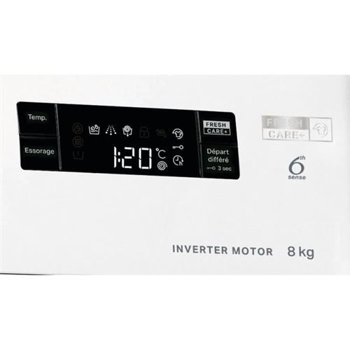 Lave-linge Frontal 8kg Whirlpool 1200tr/min A+++, Whi8003437044366