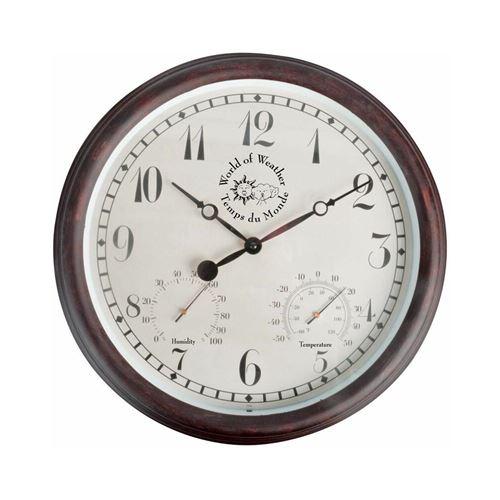 World Of Weather - Horloge thermomètre hygromètre extérieure