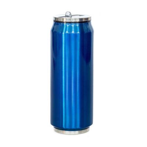 yoko design canette isotherme 500ml brillante bleu nuit