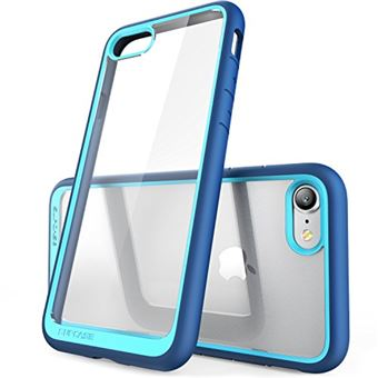 SUPCASE Coque iPhone 7 Coque iPhone 8 Coque de Protection Transparente Unicorn Beetle Style Premium Hybrid pour iPhone 7 4 7 2016 iPhone 8 2017 Bleu