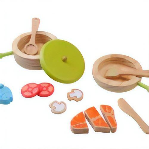 Everearth Jouets vaisselle bois multicolore