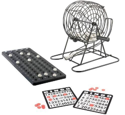Jeu de loto 75 boules avec une sphere en metal - jeu de bingo - jeu de societe