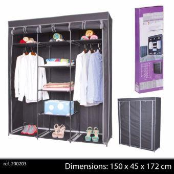 grande penderie tagere armoire de rangement pour v tement placard dressing de chambre portant. Black Bedroom Furniture Sets. Home Design Ideas