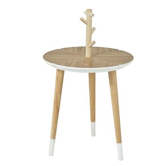 sobuy table caf design avec support tasses table dappoint rondefbt38 wn fr achat prix fnac - Table D Appoint Ronde