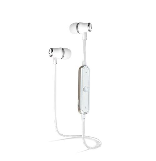 Ecouteurs Bluetooth Anneau pour IPHONE Xs Max Smartphone Sans Fil Telecommande Son Main Libre INTRA AURICULAIRE Universel (BLANC)