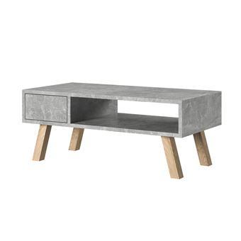 Vero Bois Table Basse Beton Achat Prix Fnac