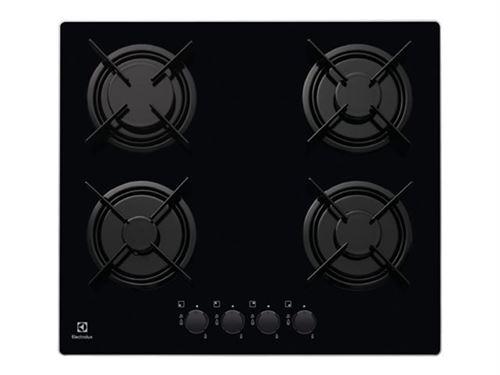 Electrolux EGT6242NVK - Table de cuisson au gaz - 4 plaques de cuisson - Niche - largeur : 56 cm - profondeur : 48 cm - noir - noir