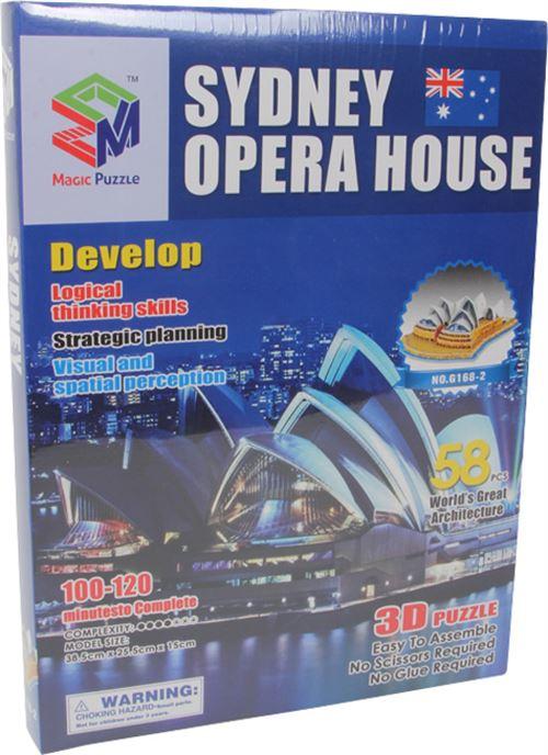 Small Foot PUZZLE 3D Sydney Opera House de 58 pièces